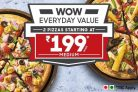 Pizzahut – Just Rs.199 each for Medium Pan Pizza