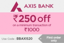 Axis Card Offer: Flat Rs.250 OFF at BigBasket