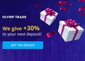 OlympTrade Welcome Offer: Get 30% Extra on Next Deposit