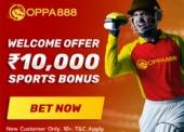 Oppa888 Welcome Offer – 10,000 Welcome Sports Bonus on 1st Deposit